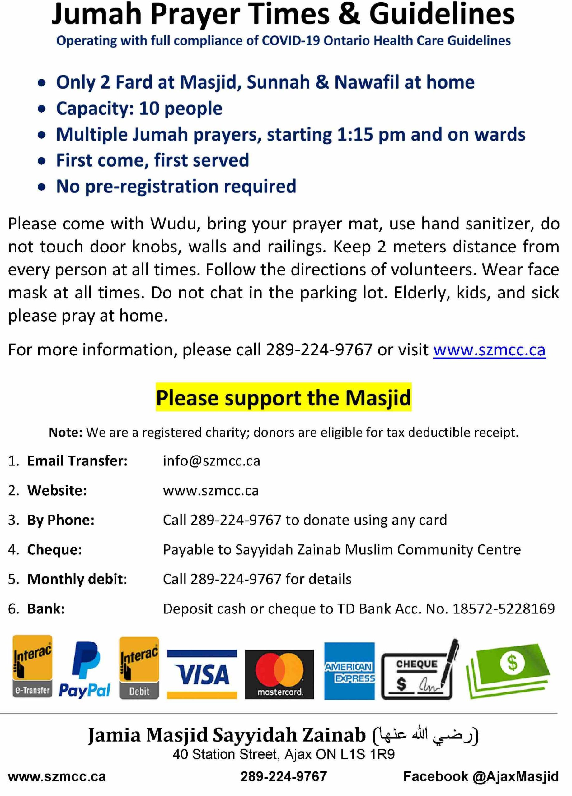 Friday Prayer Times & Guidelines