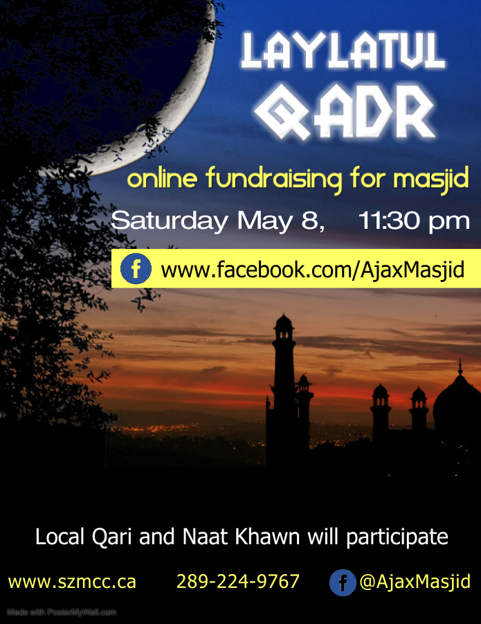Laylatul Qadr & Online fundraiser