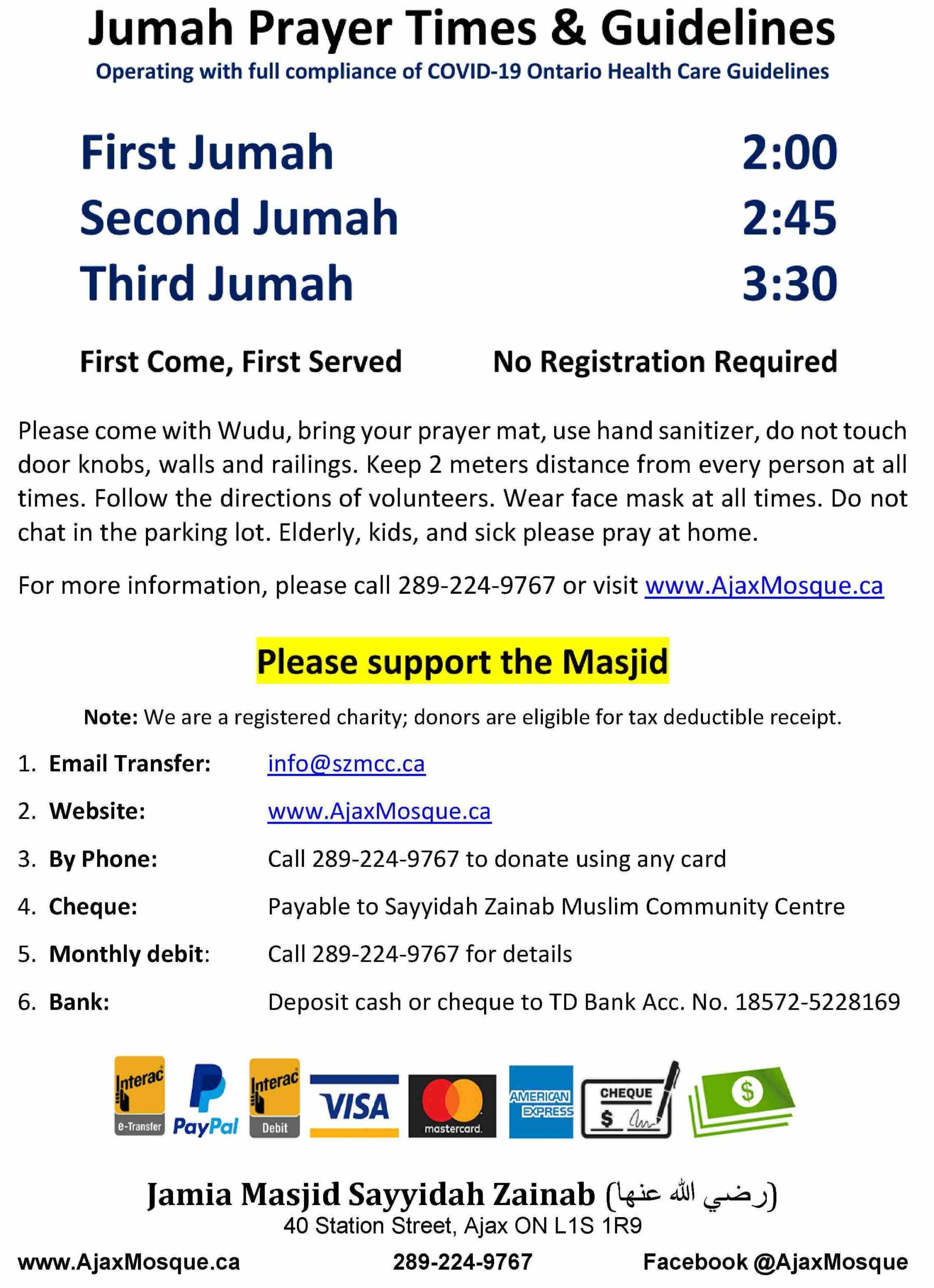 Jumah Prayer Timings