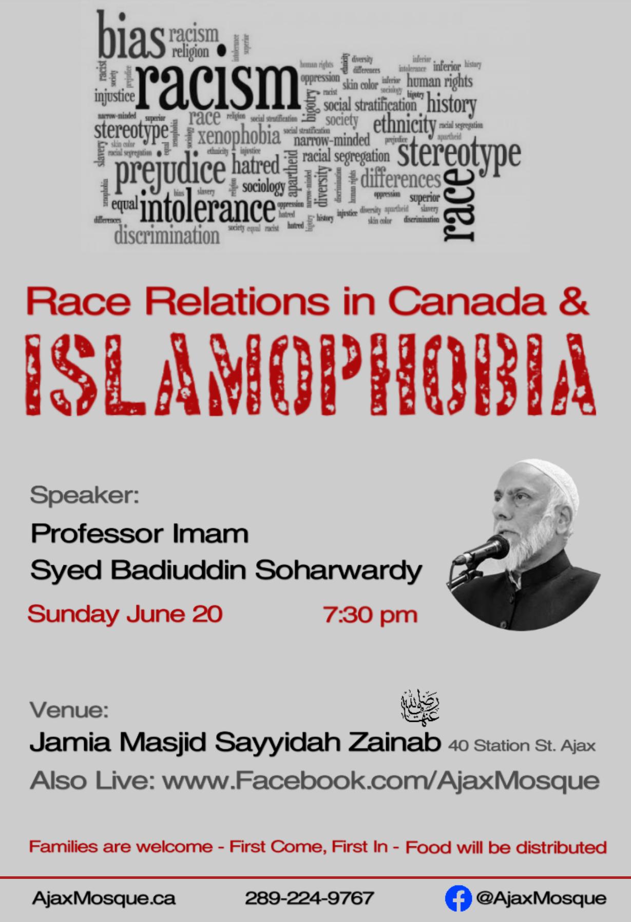 Race Relations in Canada & Islamophobia